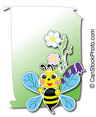 Card with bee