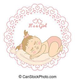 card with birthday girl