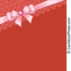 Card with bow