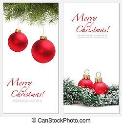 card with christmas ball