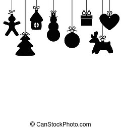Card with Christmas baubles