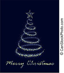 Card with Christmas tree.