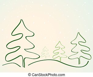 Card with Christmas tree