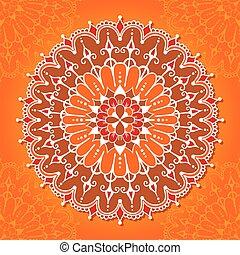 Card with circular ornamental design