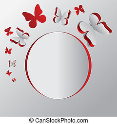 Card with cut out butterflies
