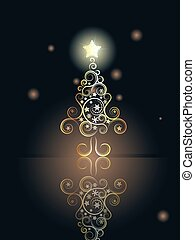 Card with Decorative Christmas Tree