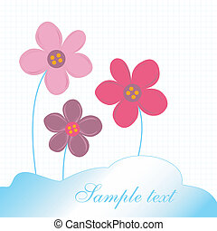 Card with delicate flowers