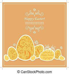 Card with Easter eggs