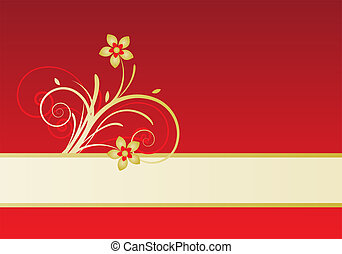 card with floral design