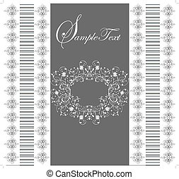 Card with flower ornament