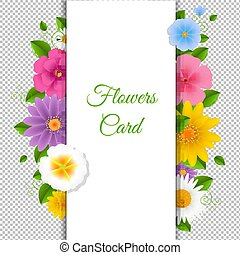 Card With Flowers Happy Birthday Card