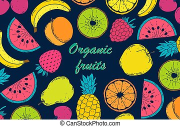 Card with fruits