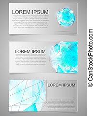 Card with geometric figure. Abstract template. Vector illustration.