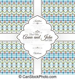 Card with geometric horizontal pattern