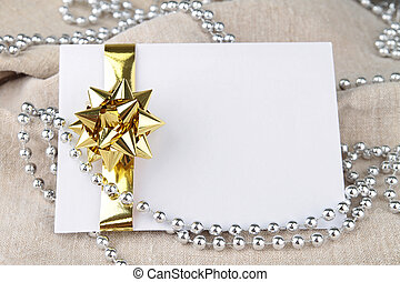 card with gift bow