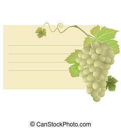card with grapes illustration