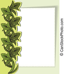 card with green leaves