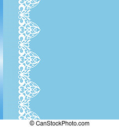 Card with lace borders