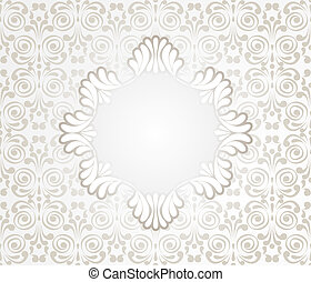 Card with Lace Design Frame