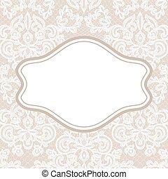 card with lace