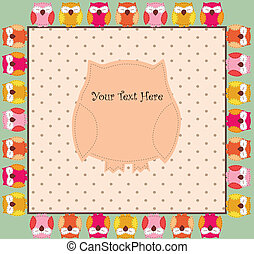 Card with owls for your design