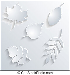 Card with paper leaves.