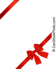 Card With Red Bow