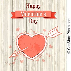 Card with red heart