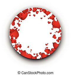 Card with red hearts.