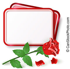 Card with red rose
