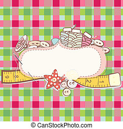 Card with sewing accesories