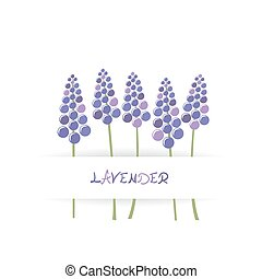 Card with stylized lavender