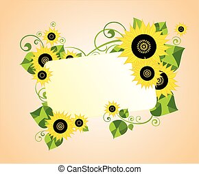 Card with sunflower