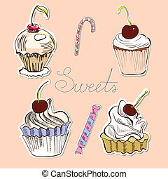 Card with sweets