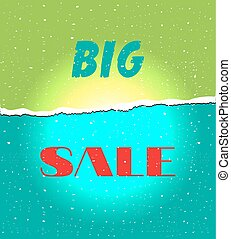 Card with text Big sale