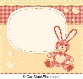 Card with the hare for baby shower