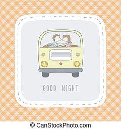 card1, buono, notte