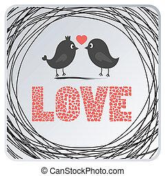 card2, miłość ptaszki