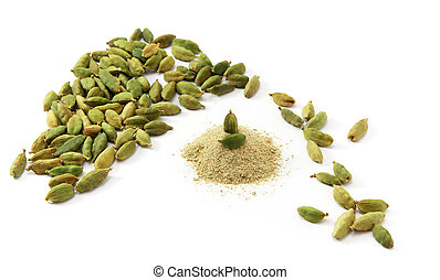 Cardamom isolated. Element of design.