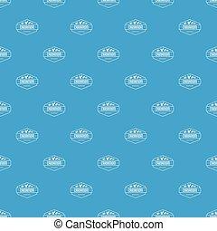 Cardamom pattern vector seamless blue