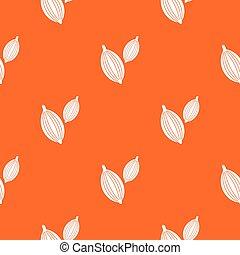 Cardamom pods pattern seamless
