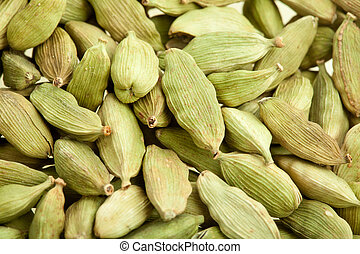 Green cardamom whole, natural spice for food and drinks
