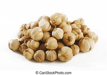 cardamon seeds on white background