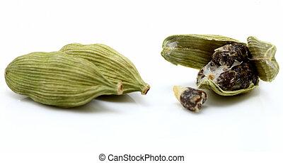 cardamon with cardamon seeds