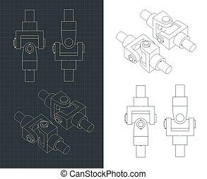 Cardan shaft drawing
