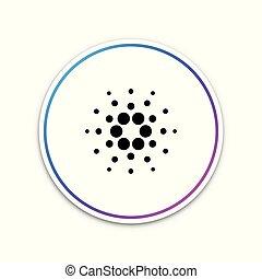 cardano, coin., vector, basado, seguro, icono, crypto., ...