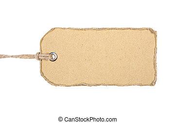 cardboar, old-style, etiket