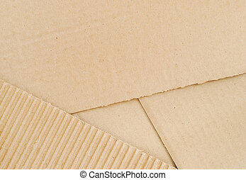 Cardboard Background - Brown cardboard sheets, top view
