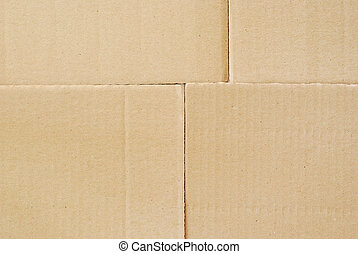 Cardboard background, top view