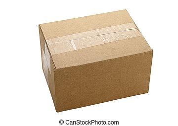 Cardboard box - A small cardboard box isolated on white ...